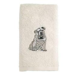 Avanti Linens 021552 Bdg Bulldog Hand Towel 2 Pack, Ivory, 2