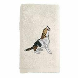 Avanti Linens 021552 Bea Beagle Hand Towel 2 Pack, Ivory, 2
