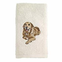 021552 GDN Golden Retriever Hand Towel 2 Pack, Ivory, 2 Piec