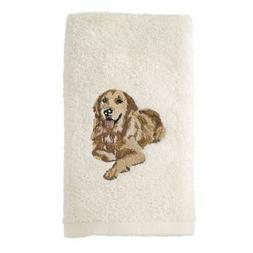 Avanti Linens 021552 Gdn Golden Retriever Hand Towel 2 Pack,