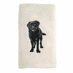Avanti Linens 021552 Lab Labrador Hand Towel 2 Pack, Ivory,