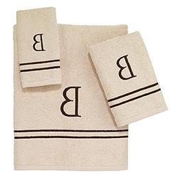 "Avanti Linens 050876""O"" Block Monogram Bath/Hand and Fingert"