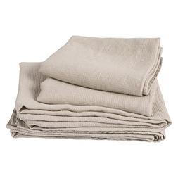 LinenMe 05373 Waffle Washed Linen Bath and Hand Towel Set, S