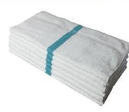 1 dozen   new 16x27 green stripe hand towels 3# per dozen he