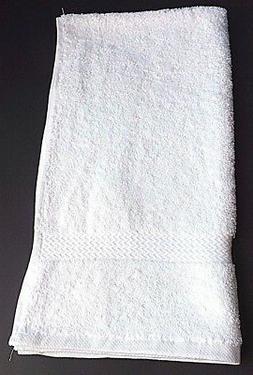 1 Dozen NEW Hand Towels 16 x 30 100% Cotton Terry White Supe