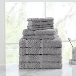 10 Piece Towel Set 100% Cotton Bath Towels Wash Cloths Hand