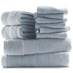 10 Piece Towel Set Ultra Soft 100% Cotton Towels Bath Hand &