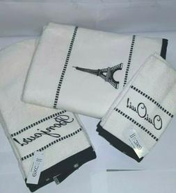 6pc Bath Towels set 2 Bath Towels 2 Hand Towels 2  Finger ti
