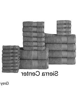 100% Cotton Economic Towels Towel Set , Grey /Denim NEW