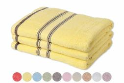 100% Cotton Embroidered Set- 3 towels, 3 hand towels,  6 Mat