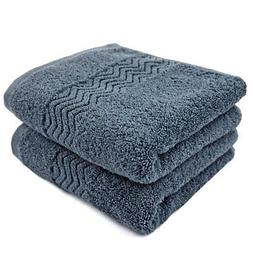 Cleanbear 100% Cotton Hand Towels Highly Absorbent Set of 2