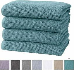Great Bay Home 100% Cotton Quick-Dry Bath Towel Set  Highly
