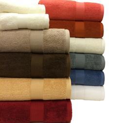 6 Piece 100% Cotton Plush Towel Set 2 Bath Towels 2 Hand Tow