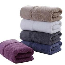 Solid Color 100%Cotton Towels Super Soft Bath Sheet Thick To