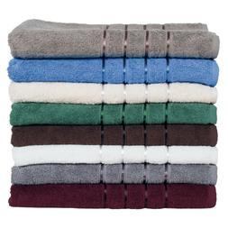 Lavish Home 100% Cotton Towels Plush 650 GSM Bath Towels 8 P