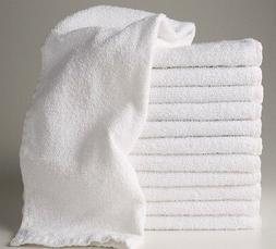 12  new white hotel salon cotton blend hand towels 16x27 ble