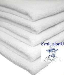12 HAND TOWELS 16 x 27  WHITE  3lbs  COTTON BLEND GYM NAIL S