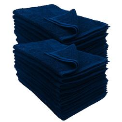 12 NEW BLUE SIZE 16X27 inches SALON BASICS COTTON GYM TANNIN