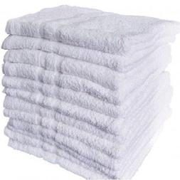 12 new white cotton hotel hand towels 16x27 royal regal  bra