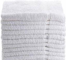 Towels N More 12 Pack White Economy 100% Cotton 15X25 Basic