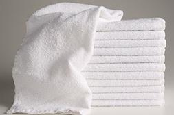 12  New White Hotel Salon Cotton Hand Towels 15x25 Bleach Re