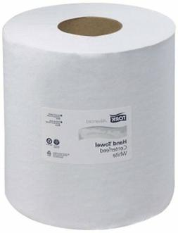 Tork 120133 Advanced Single-Ply Centerfeed Hand Towels, Whit