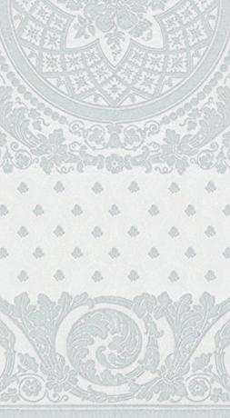 Caspari 12272GG Jacquard Paper Linen Guest Towels, Silver, 1