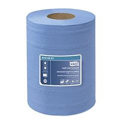 Tork 132451A Industrial Centerfeed 4-Ply Paper Wiper, Blue