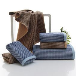 1Pc Luxury cotton super soft towels hand bath Plaid Checks t