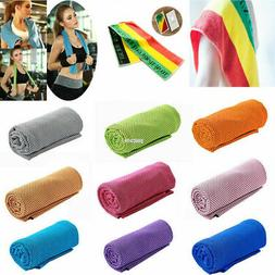 1x Absorbent Fitness Dry Cooling Sports Towel For Gym Exerci