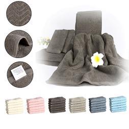 2 Bath Towels+2 Hand Towels+2 Washcloths 100% Plush Cotton E
