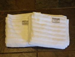 2 LUCIA MINELLI CLASSIC TURKISH HAND TOWELS IN WHITE    NEW