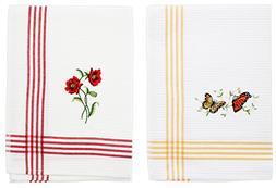 Bundle of 2 Sinobrite Embroidered Hand Towels - Butterflies
