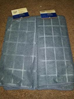 2 New Kitchen Dish Towels Gray Solids 15x25 Hand Towels Kitc