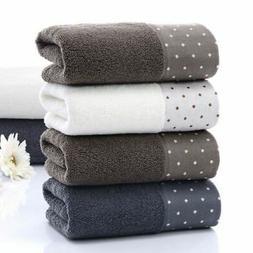2 Pack Soft Cotton Fiber Towels Set Face Hand Shower Bath Ba