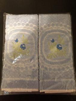 2 pc hand towel set NEW hand crafted PORTUGAL