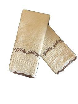2 PC  HAND TOWEL SET NEW  -HAND CRAFT PORTUGAL