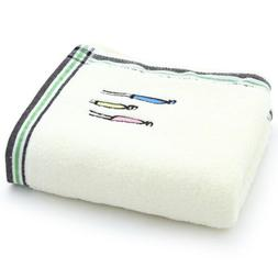 2 Pcs 100% Cotton Breathable Hand Towels Bath Beach Gym Spor