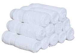 24 PACK  TOWELS PREMIUM DOBBY BORDER LUXURY HAND TOWEL BRIGH