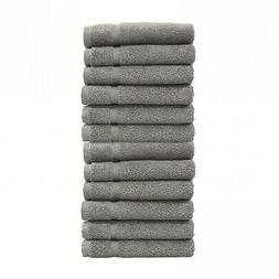 24 new charcoal grey salon gym spa towels ringspun hand towe