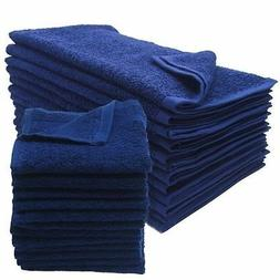24 new navy blue salon gym spa towels ringspun hand towels 1