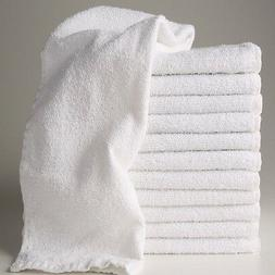 24  new white hotel a grade 100% cotton ringspun hand towels