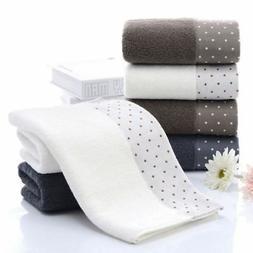 2pcs Towels Set Bamboo Fiber Face Hand Towel Bathroom Home G