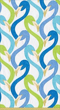 Caspari 3-Ply Paper Flamingo Flock, 15 Count Guest Towel Nap