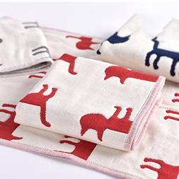 DHG 3 children's cotton towel, four-layer gauze child, towel