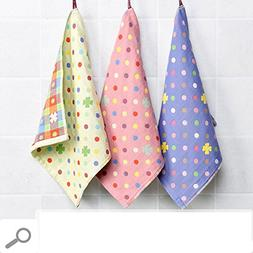 DHG 3 Cotton Handkerchief Towels, Hanging Three Layers Gauze