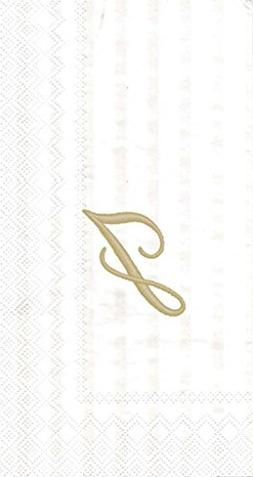 Ideal Home Range 3-Ply Paper Ivory Monogram, 16 Count Guest