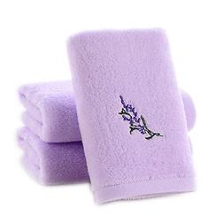 3-Pack Hand Towels 100% Cotton Highly Absorbent Embroidery P