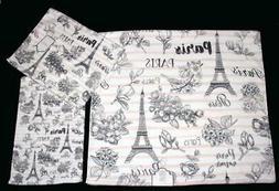 3 Kassafina PARIS Eiffel Tower Flowers Stripes Bath Hand Fin