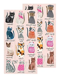 Ideal Home Range 3-Ply Paper Cool Cats, 16 Count Guest Towel